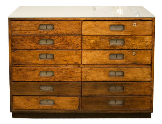Mid-century Haberdasher's Chest of Drawers