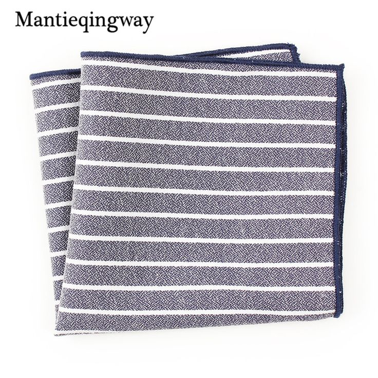 >> Click to Buy << Mantieqingway Fashion Casual Striped Pocket Square Handkerchiefs for Men Women Accessories Male Business Suit Handkerchief Hanky #Affiliate