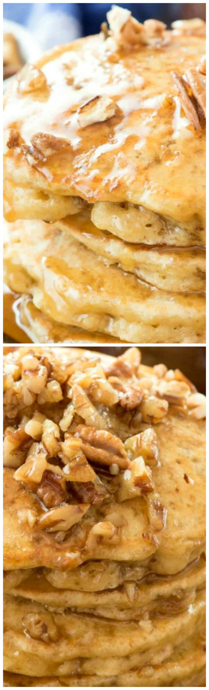 Butter Pecan Pancakes ~ This easy recipe is the BEST PANCAKE RECIPE EVER... The flavor tastes just like butter pecan ice cream, especially with the butter pecan syrup!