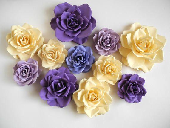 Luxury Paper Flowers Wall Decor Crest - Wall Art Design ...