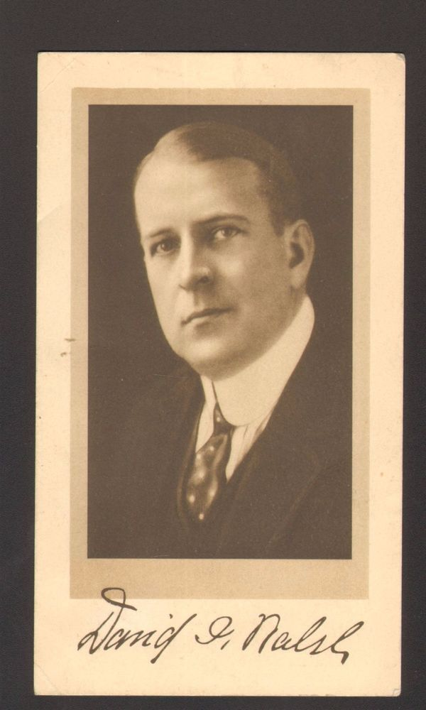 Undated Political Advertising Card David I Walsh for Senator Massachusetts MA