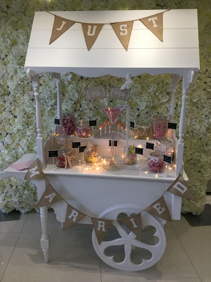 Bella Occasions shabby chic wedding Candy Cart