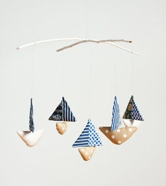 Baby Boat Mobile - eclectic - mobiles - Etsy