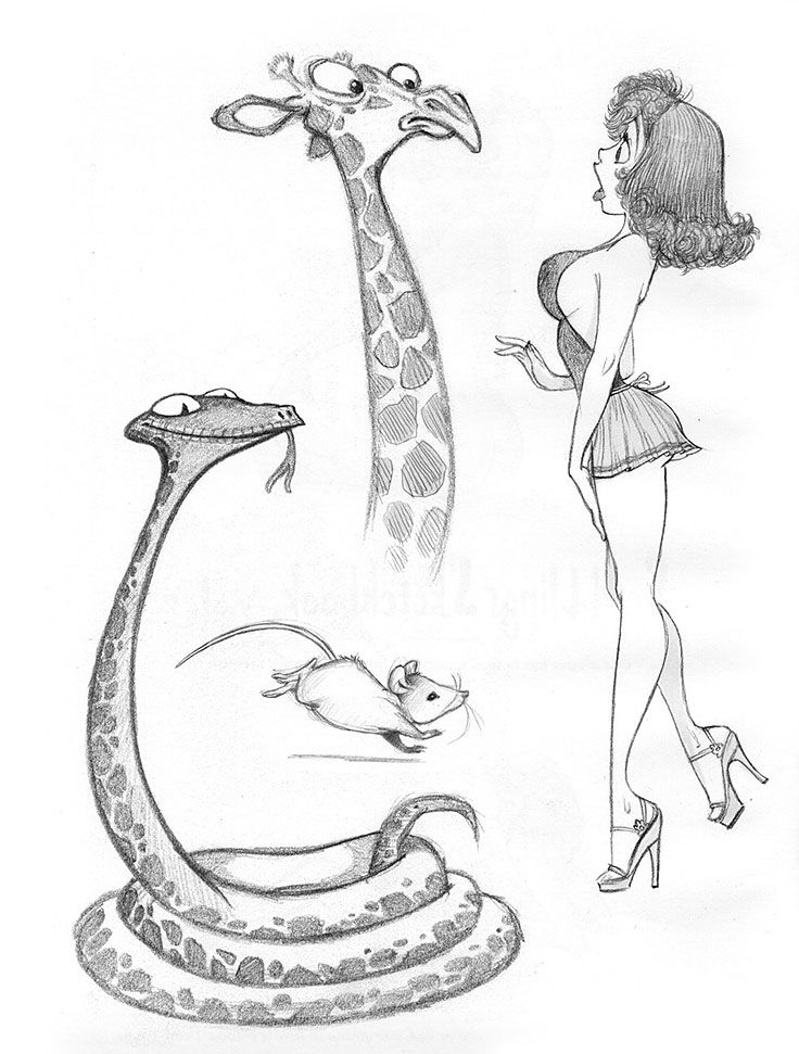 Erotic cartoon sketches