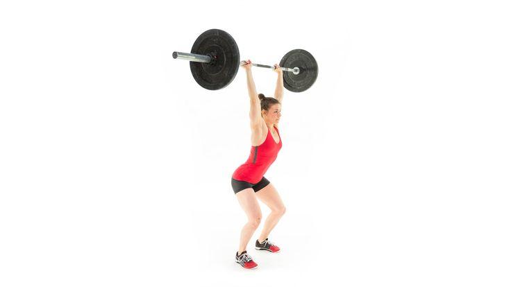 (Push Jerk) El movimiento es casi igual a un Push Press. También se impulsa con las piernas, pero en la fase de extensión de los brazos, el cuerpo tiene que flexionarse para meterse debajo de la carga con un pequeño movimiento de flexión de cadera.
