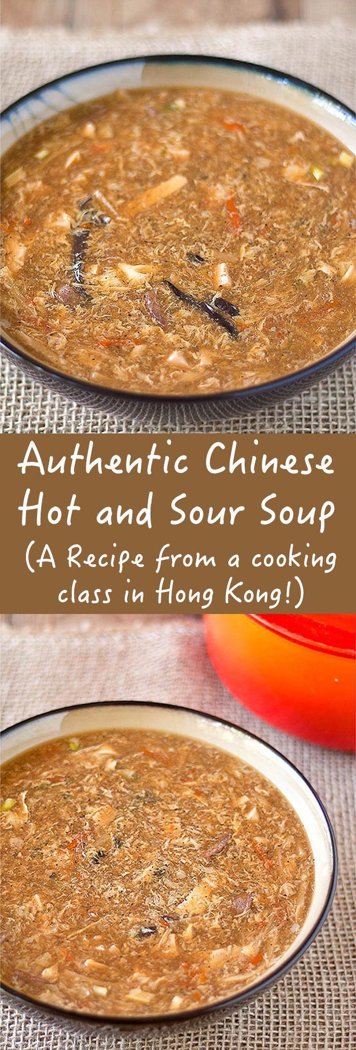 Authentic Hot and Sour Soup - Hot & Sour Soup can be a fickle thing, but not this version. The recipe from a cooking class in Hong Kong, this soup is a keeper.