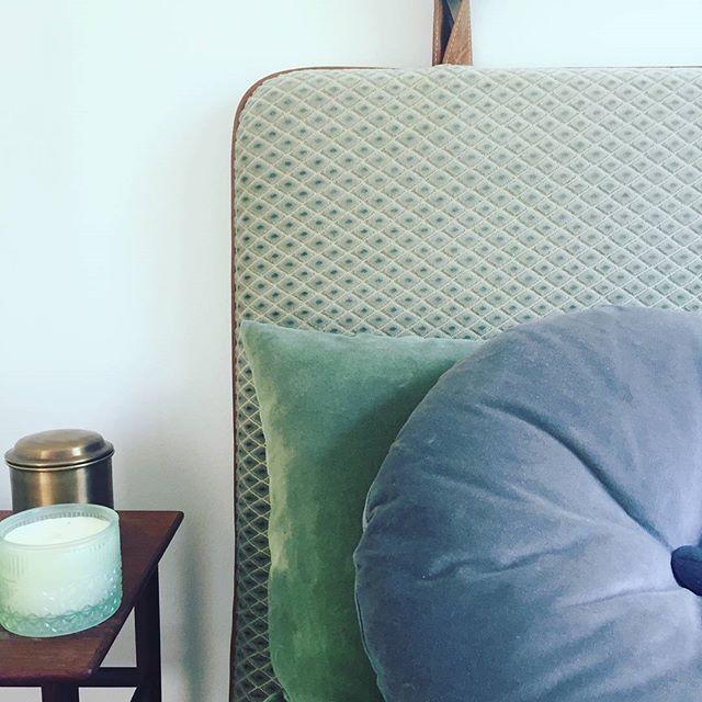 #them #bythornam #headboard #velvet #leather #handmade #danishdesign #design #cozy