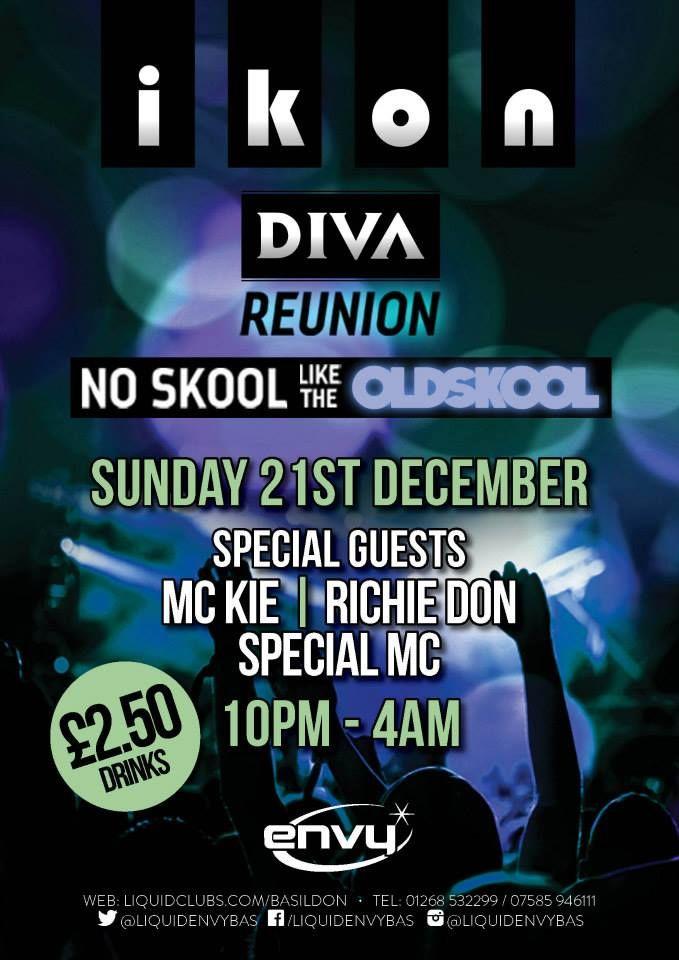 ikon DIVA Reunion - DJ RICHIE DON / MC KIE / SPECIAL MC 21.12.2014