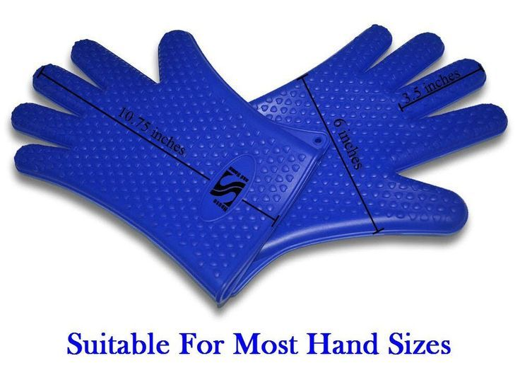 SIGNIFICANT Silicone Kitchen & BBQ Gloves. Use As Heat Resistant Cooking Gloves
