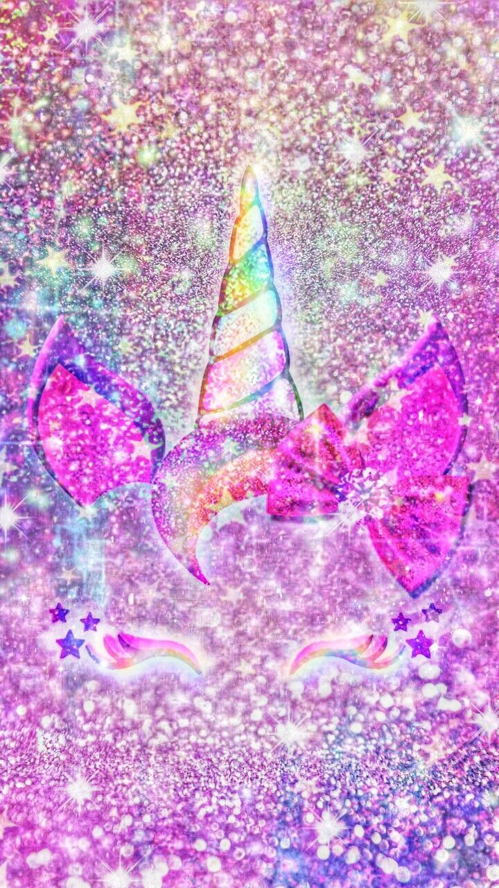 Cute Lock Screen Wallpapers For Iphone Glittery Unicron Girl Made By Me Purple Sparkly