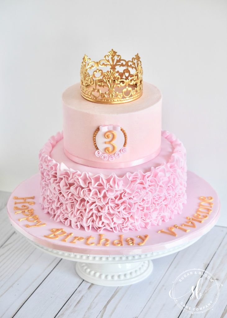 Ruffle Princess Cake Princess Birthday Cake Princess Party Cake