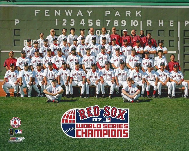 2007 BOSTON RED SOX Team Roster World Series Champions