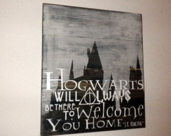 JK Rowling / Harry Potter / Hogwarts Quote Wall Hanging -- Home Decor