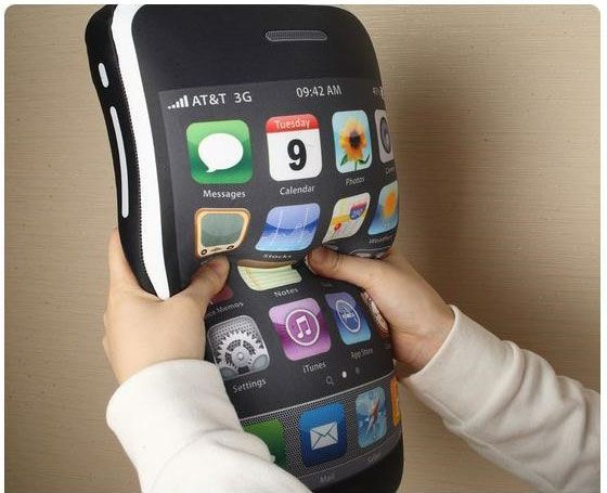 iCushion: iPhone 3GS shaped pillow (great gift!)