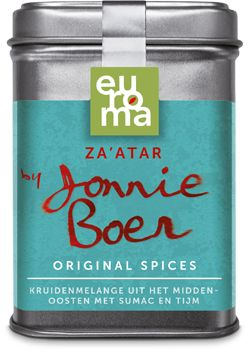 Za'atar, Baharat, Garam Masala en alle andere original spicies van Johnny Boer. Wat smaakt lekker bij welk gerecht.