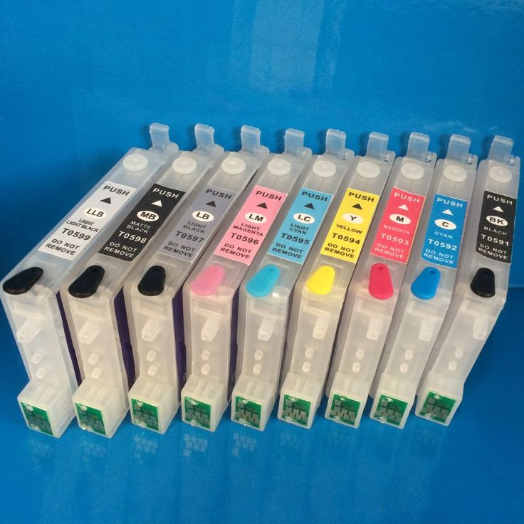R2400 REFILLABLE EMPTY REFILL INK CARTRIDGE EPSON T0591/2/3/4/5/6/7/8/9 Non OEM