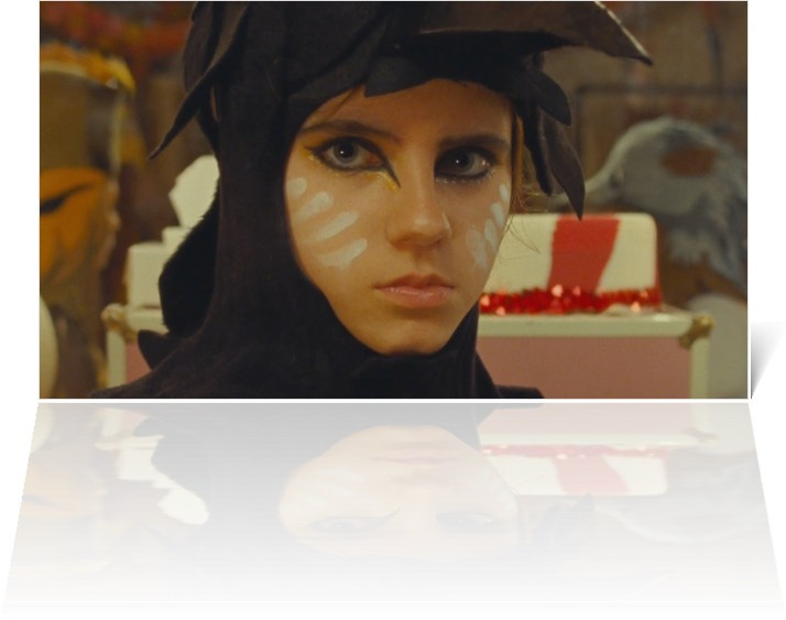 Moonrise Kingdom bird makeup- perfect for my planned halloween costume