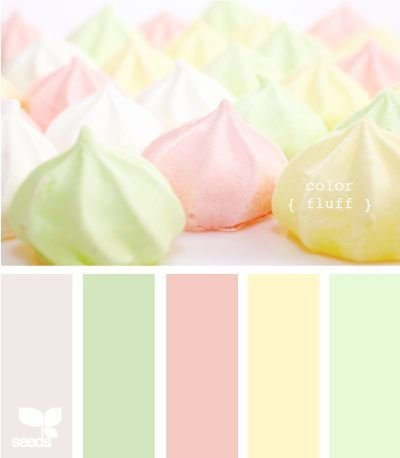 It's a girl (winter white, peridot, light pink, baby yellow and mint green)