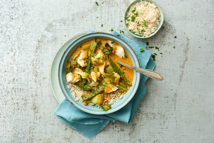 De zachte, bloemige smaak van de rijst past perfect bij de kruidige curry -recept- Allerhande