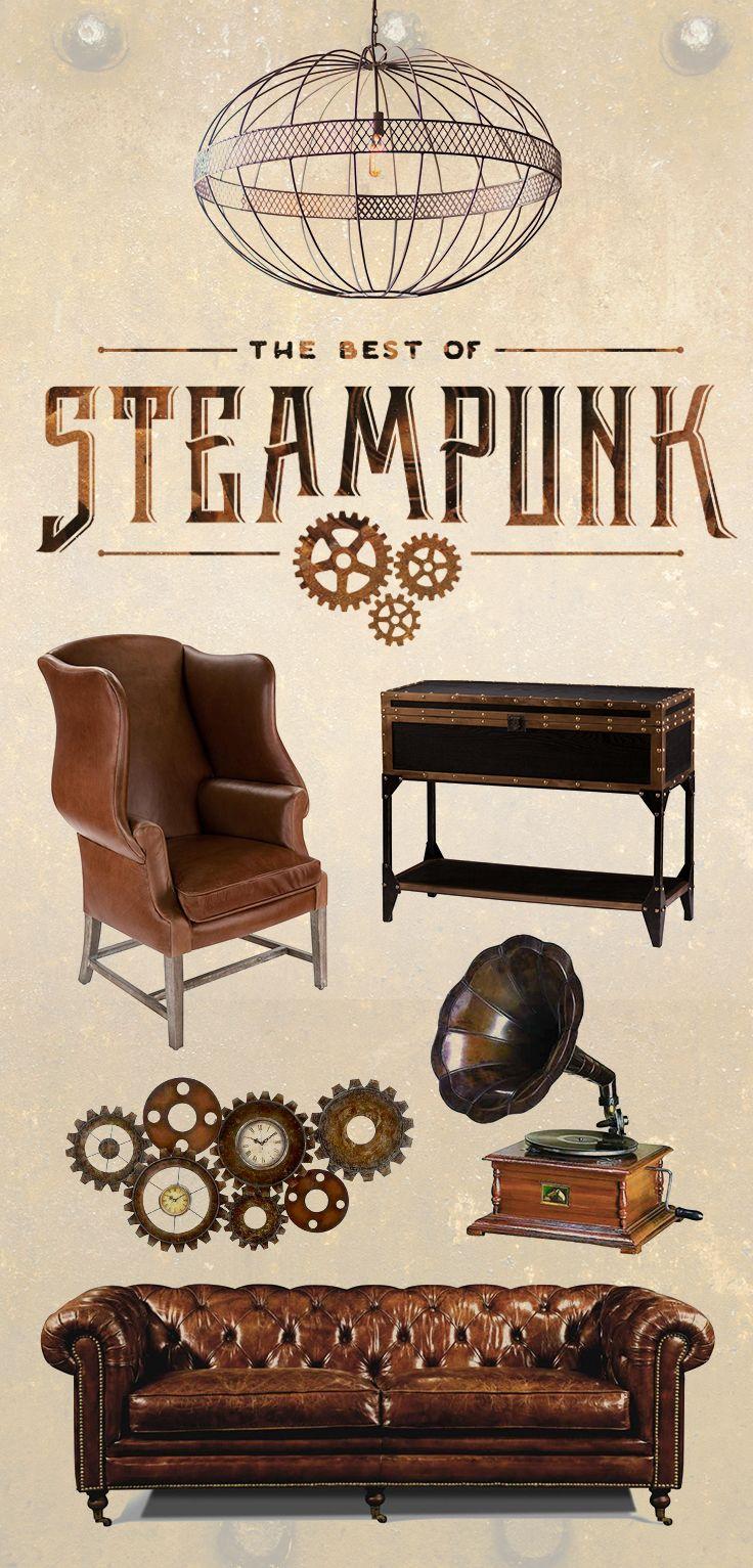 Best 25 steampunk furniture ideas on pinterest industrial cat furniture steampunk bathroom - Steampunk bedroom ideas ...