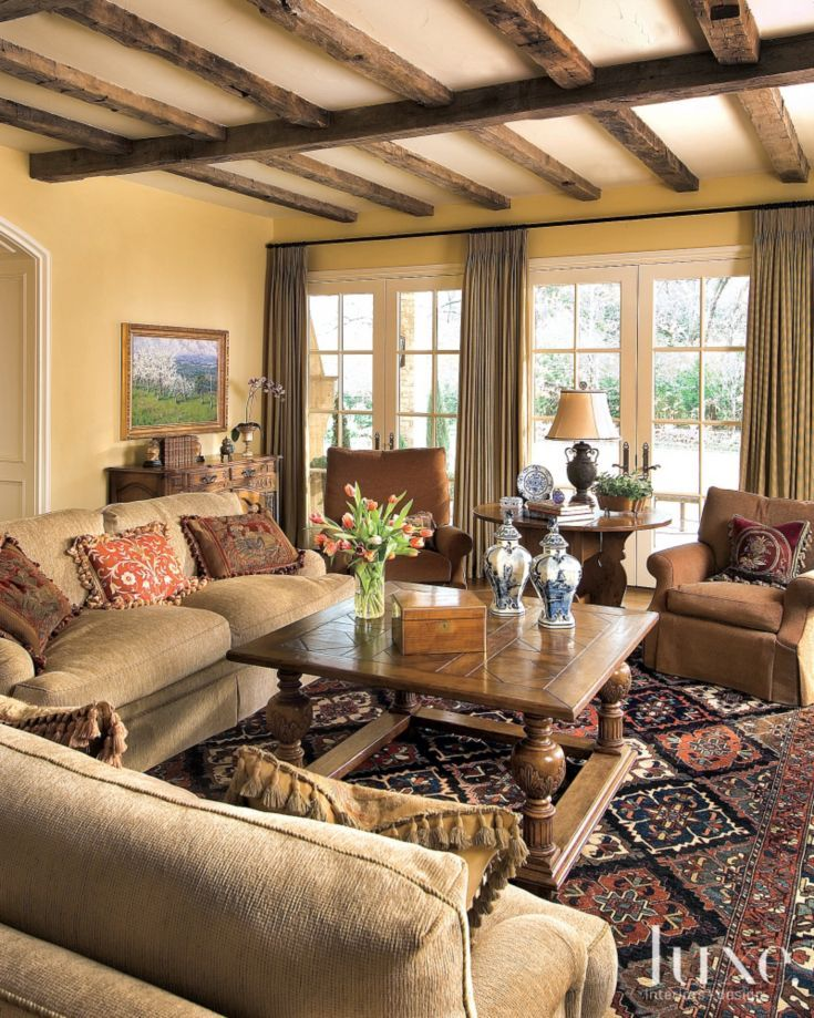 Brown Country French Living Room