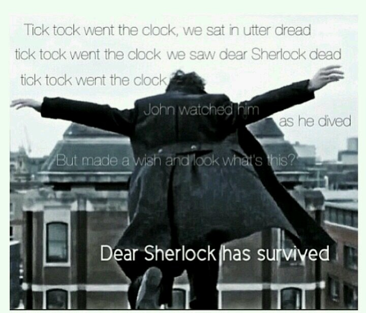 Finally! A post about Reichenbach that doesn't make me want to curl up in a ball and wail.----------Same same.