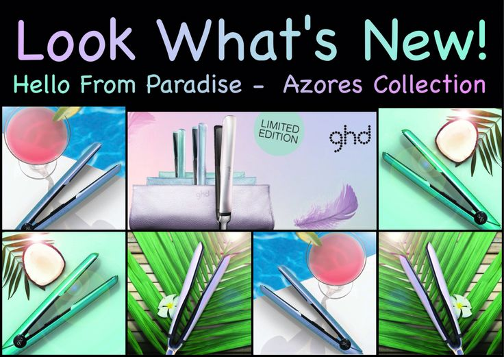 ESCAPE TO PARADISE Inspired by the stunning landscapes of The Azores islands, three stylers in limited edition opalescent shades.  Choose from serene pearl, atlantic jade or marine allure. Headlines Hair & Beauty 07-41254220 www.headlines4hair.net.au #ghd #ghdazores #limitededition #hellofromparadise #escapetoparadise #headlines4hair #headlinesherveybay #hair #hairdressers #hairsalon #ghdstylers #whatsnew #holidayhair #beachwaves #hintghd #curl #straighten #wave #newproduct #ghdherveybay
