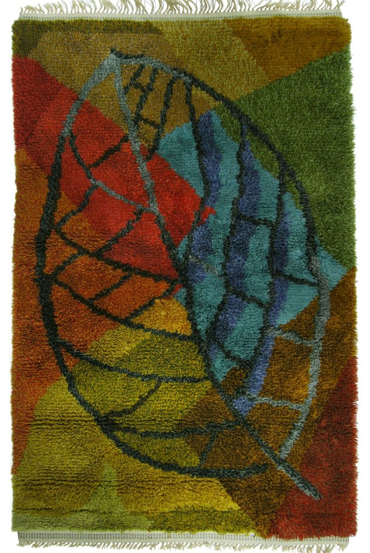 Mid-Century Swedish Rya Rug via SCANDINAVIAN MODERNISTS. Click on the image to see more!