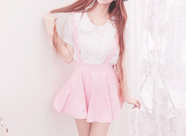 Blouse Pink Short Sleeve Tops Pastel And Yahoo Search