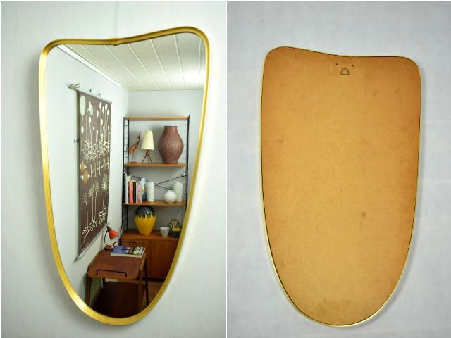 Marvelous Wandspiegel Spiegel Vintage Flurspiegel er Mid Century Flurm bel Garderobe