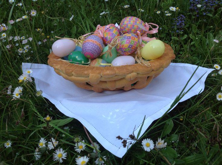 cesto di Pasqua per le uova / Easter eggs bread basket tutorial