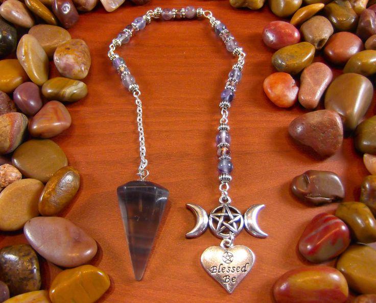 Fluorite Wiccan Pendulum