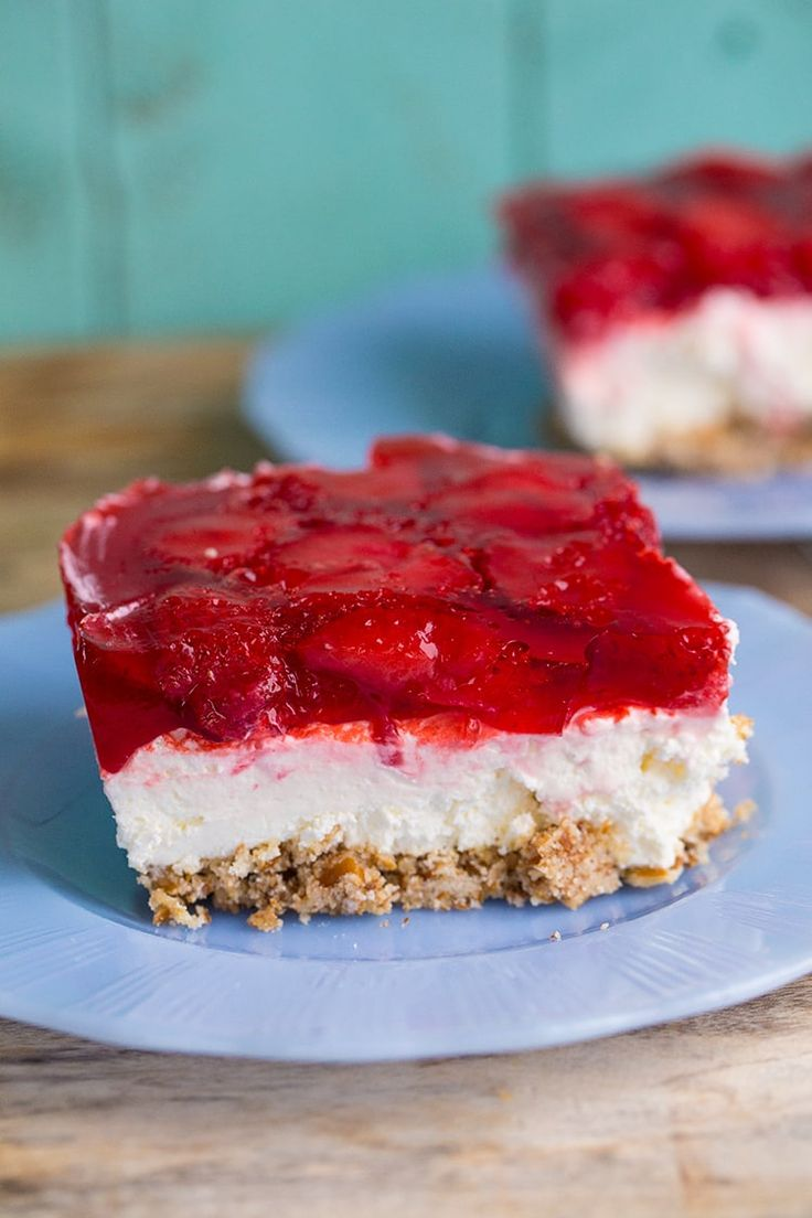 Strawberry Pretzel Dessert Salad - The Kitchen Magpie