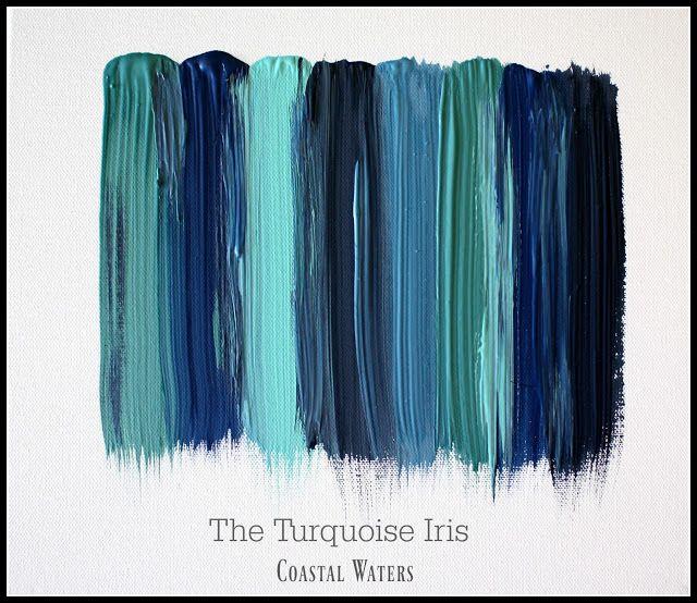 The Turquoise Iris ~ Vintage Modern Hand Painted Furniture Coastal Shades of Blue