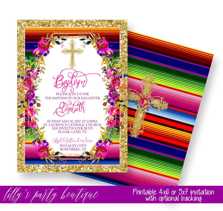 Baptism Fiesta Invitation, Fiesta Baptism Invitation, Mexican Fiesta Baptism Invitation- YOU PRINT by LillysPartyBoutique on Etsy https://www.etsy.com/listing/508692501/baptism-fiesta-invitation-fiesta-baptism