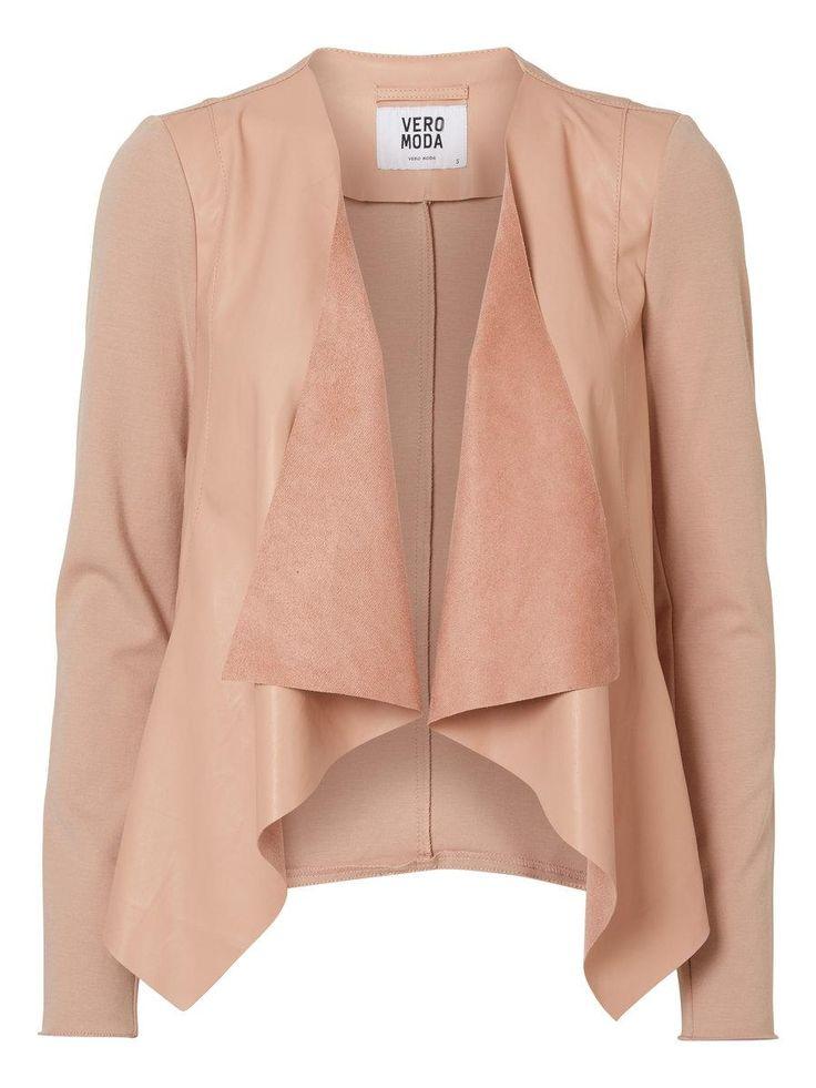 Pink blazer jacket from VERO MODA. So cute!
