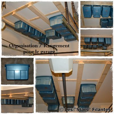 Garage ceiling storage. Perfect for holiday decorations or camping  equiptment. Be sure to label - Best 25+ Ceiling Storage Ideas On Pinterest Workshop Storage