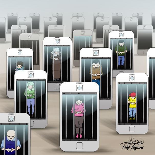 Com a ascensão da internet, presente a todo momento nas nossas vidas, é praticamente impossível se ligar apenas no mundo real. Para ilustrar isso, confira algumas imagens que demonstram essa nossa dependência de tecnologia.