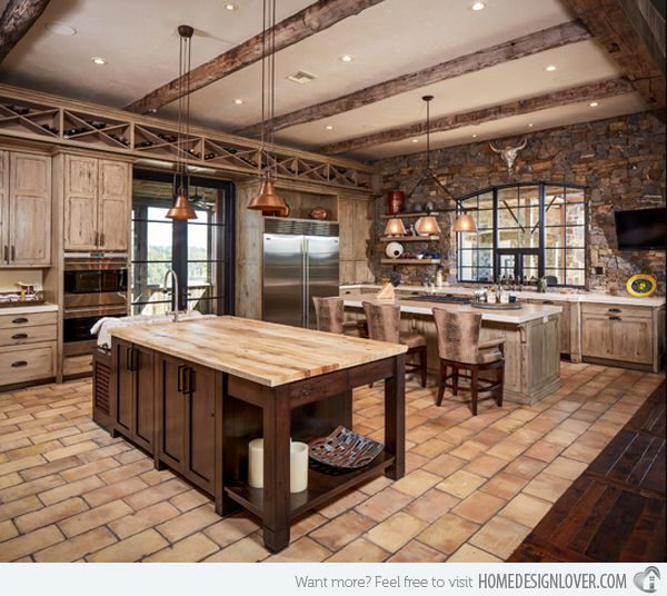 Cowboy Kitchen: 15 Interesting Rustic Kitchen Designs