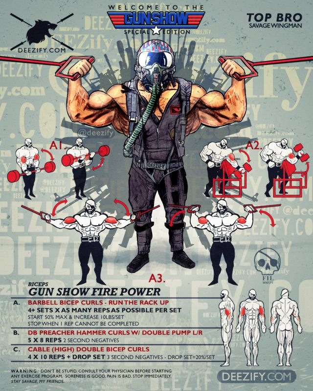 bicep workout: gunshow - top gun