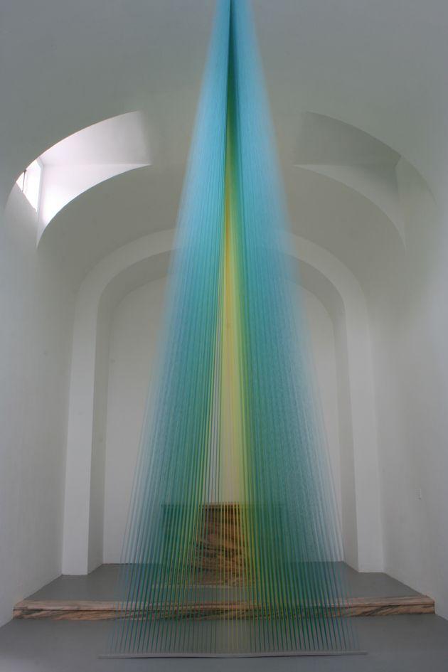 installation+artists+meditation   ... creates rainbow light with thread art in St. Louis art installation