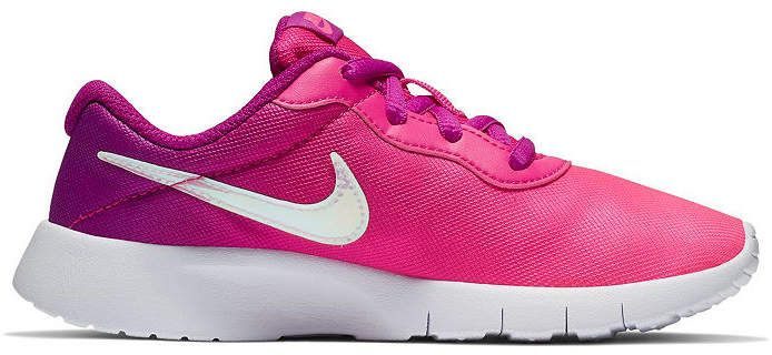 Nike Tanjun Print Girls Running Shoes Lace up Little Kids