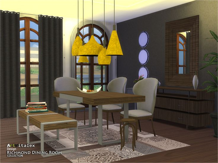 Richmond Dining Room Found In TSR Category Sims 4 Sets