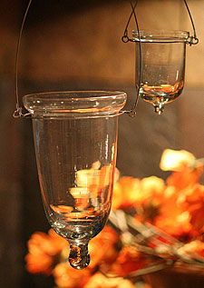 Hanging Tealight Holder Set of 6 Clear Glass - 3 Inches