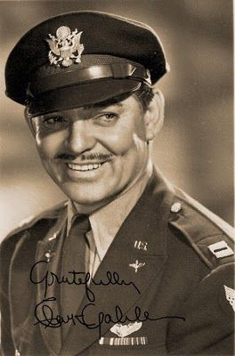 Serviceman Clark Gable in uniform - 1940's