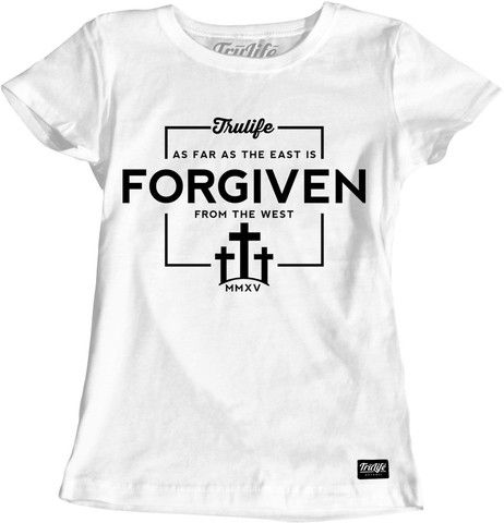 Ladies Forgiven T-Shirt Trendy Christian Apparel.   www.trulifeapparel.com ...    #hoodie #streetwear #god #jesus #streetgear #swag #swagwear #shoes #tees #TrulifeApparel #TruLife #trending #love #london #newyork #fashionista #fashion #christian #christianapparel #christianclothing #clothing #brands #wow #tees #follow #followme #inspiration #white #love #instagood