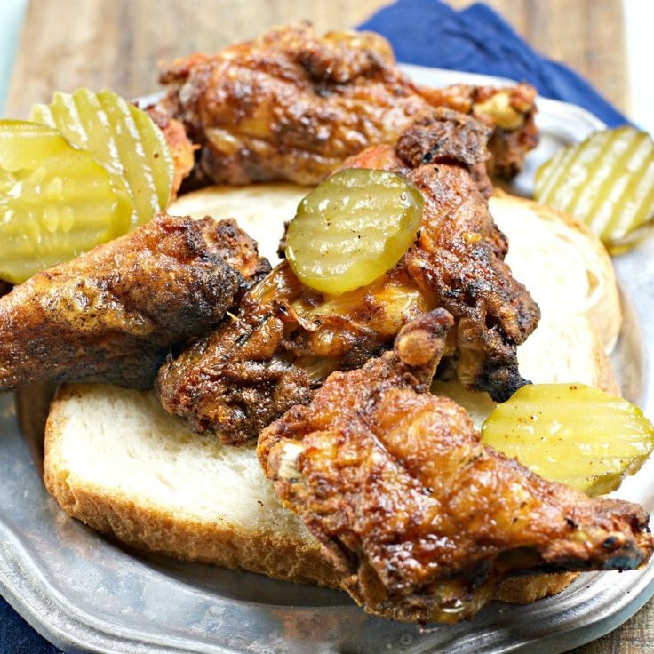 This recipe for Nashville Hot Chicken Wings is a quick and easy baked wing recipe that will tickle your tongue for sure! Join food bloggers to....