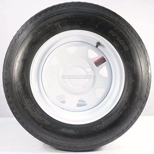"Trailer Tire + Rim 5.30-12 530-12 5.30 X 12 12"" 4 Lug Hole White Wheel Spoke  https://www.safetygearhq.com/product/automotive/trailer-tire-rim-5-30-12-530-12-5-30-x-12-12-4-lug-hole-white-wheel-spoke/"