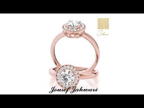 خاتم زواج الماس سوليتير ذهب وردي Youtube Engagement Rings Rings Jewelry