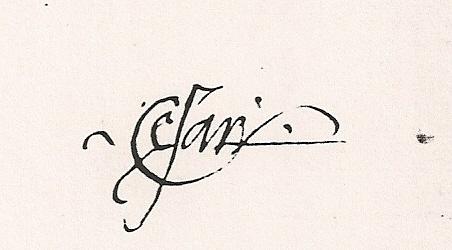 Firma di Cesare Borgia
